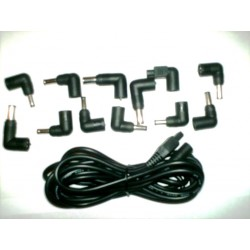 Kit cable + 12 universal laptop adapters